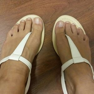 335d5b82403 Faded Glory Shoes - White T Strap Sandals